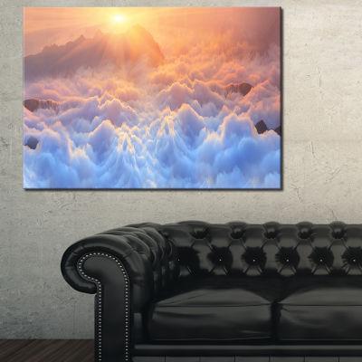 Designart Frosty Carpathian Mountains Canvas Art