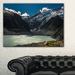 Designart Frosty Mountains Over Blue Lake Canvas Art