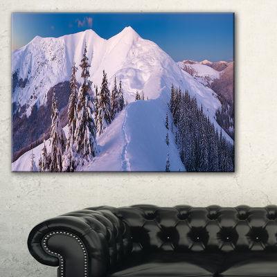Designart Frosty Winter Carpathians View Canvas Art