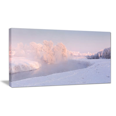 Designart Frosty Winter Sunshine Panorama Canvas Art