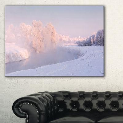 Designart Frosty Winter Sunshine Panorama Canvas Art