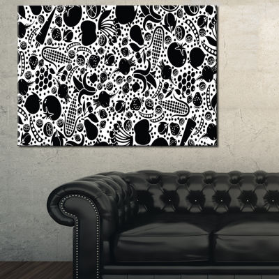Designart Fruits And Vegetables Pattern Canvas Art