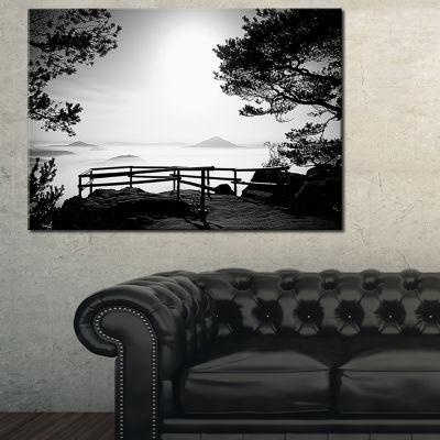 Designart Full Moon Autumn Midnight In Black Canvas Art