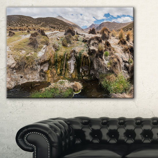 Designart Fumaroles Altipano Geothermal Area Canvas Art