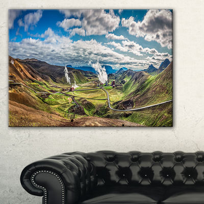 Designart Geothermal Power Station Panorama Canvas Art
