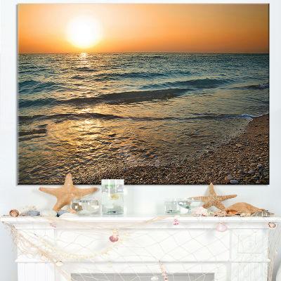 Designart Gloomy Atlantic Beach Portugal Canvas Art