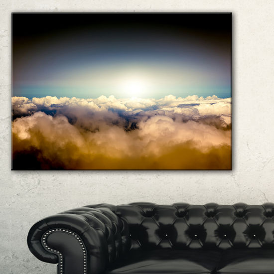 Designart Gloomy Sky Above Clouds Canvas Art
