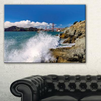 Designart Golden Gate Bridge In San Francisco Canvas Art