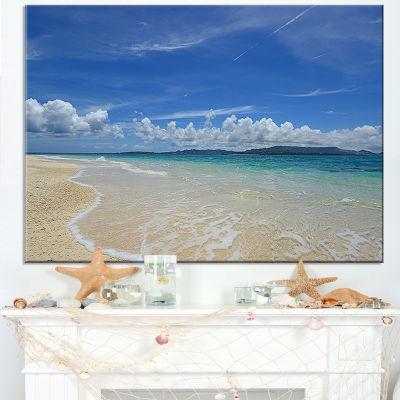 Designart Gorgeous Beach In Summertime Canvas Art