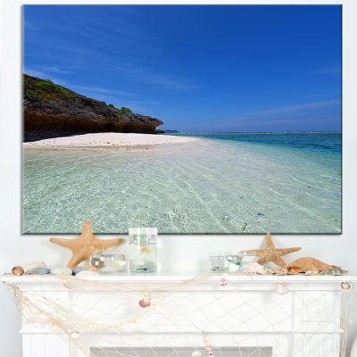 Designart Gorgeous Blue Beach During Summer Canvas Art