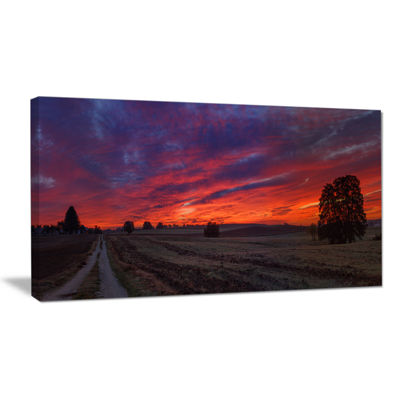 Designart Gorgeous Cloudy Sky During Fall Canvas Art