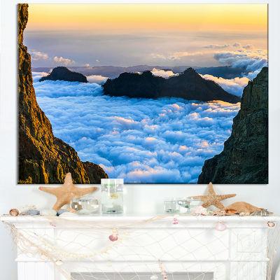 Designart Gran Canaria Sunset Over Clouds Canvas Art
