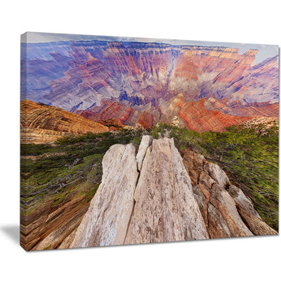 Designart Grand Canyon View From Above Canvas Art