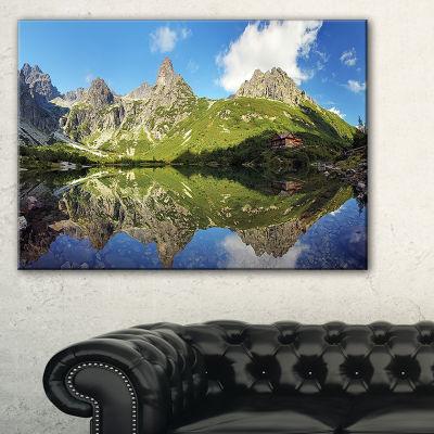 Designart Green Lake In Tatra Mountain Canvas Art