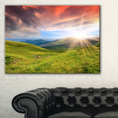 Designart Green Summer In Carpathians 3-pc. Canvas Art