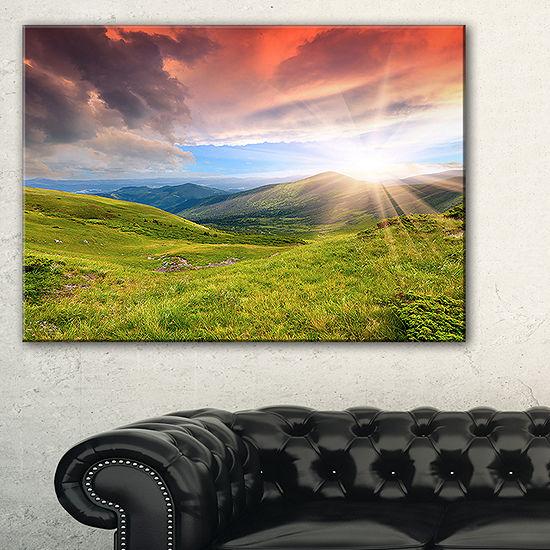 Designart Green Summer In Carpathians 3-pc. Canvas Art