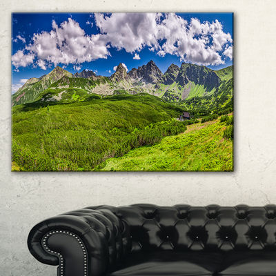 Designart Green Tatras Mountains Panorama Canvas Art