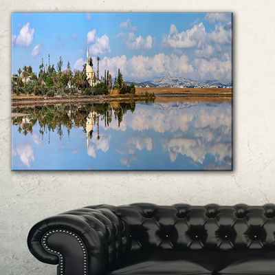 Designart Hala Sulttan Tekke In Cyprus Panorama Canvas Art
