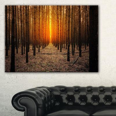 Designart Halloween Themed Spooky Dark Forest Canvas Art
