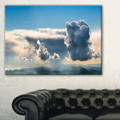 Designart Heavy Clouds In Sky Panoramic View Canvas Art