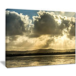 Designart Heavy Clouds Over Foreshore Reserve Canvas Art