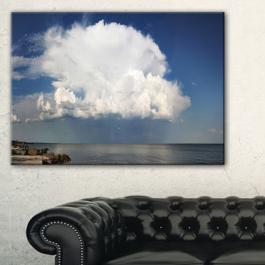 Designart Heavy White Cloud Above Sea Canvas Art
