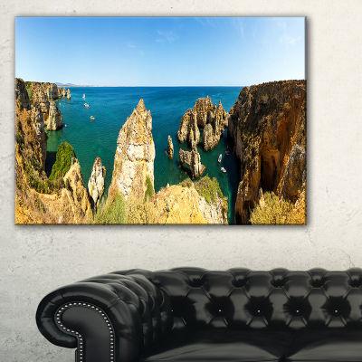 Designart High Cloudy Mountains Panorama Canvas Art