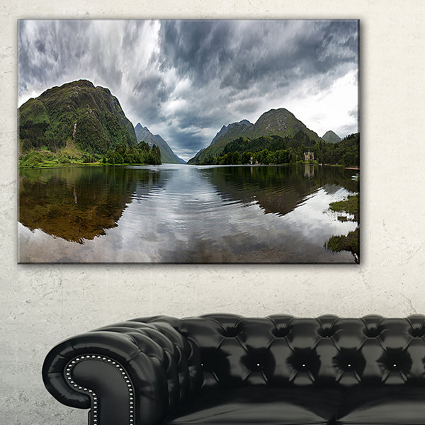 Designart Highland Mirrored In Calm Waters Canvas Art