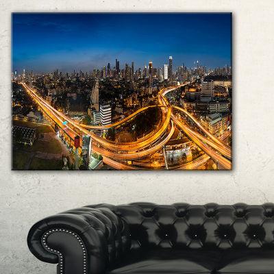 Designart Highway And Main Traffic Bangkok Canvas Art