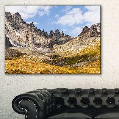 Designart Hills And Valleys In Golden Morning Canvas Art