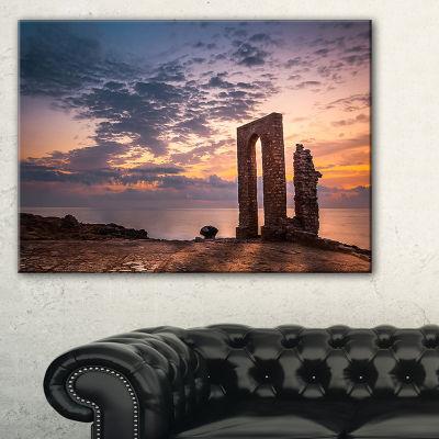 Designart Historic African Ruins At Sunset Canvas Art