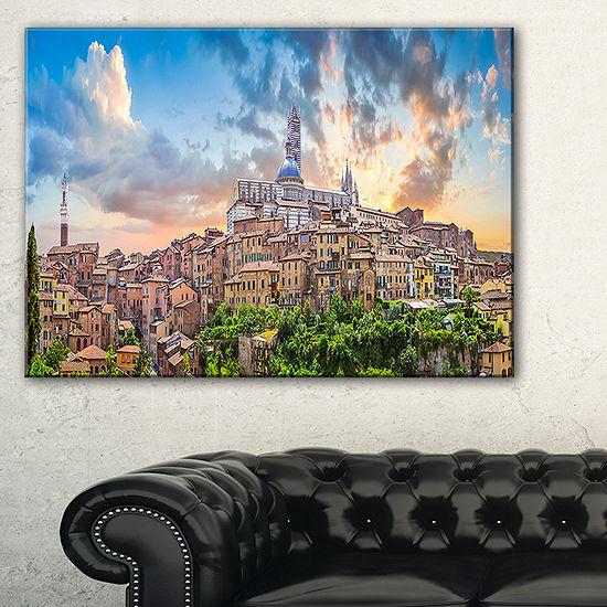 Designart Historic City Of Siena Panoramic View Canvas Art