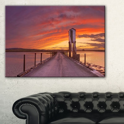 Designart Holy Island Of Lindisfarne Panorama Canvas Art