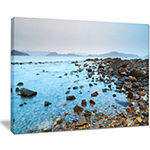 Designart Hong Kong Port Shelter Stony Beach Canvas Art