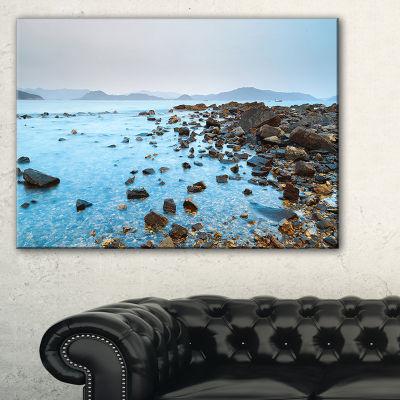 Designart Hong Kong Port Shelter Stony Beach Canvas Art