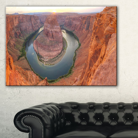 Designart Horseshoe Bend Arizona Panorama Canvas Art
