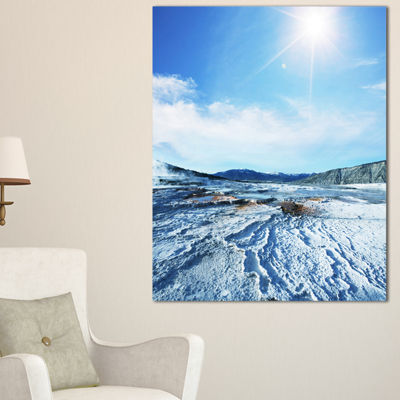 Designart Hot Sprint Under Bright Sunlight Canvas Art