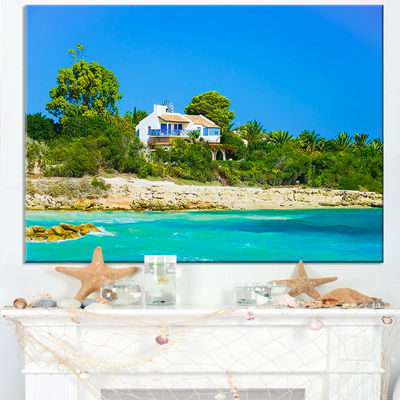 Designart House On The Island Of Cyprus Canvas Art