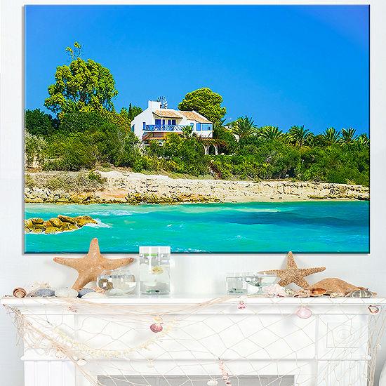 Designart House On The Island Of Cyprus Canvas Art