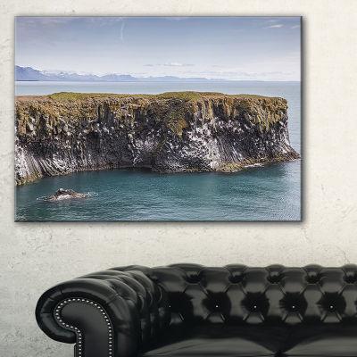 Designart Huge Rock In Coastline Panorama Canvas Art