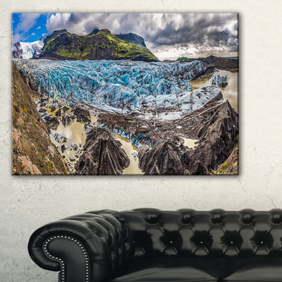 Designart Huge Vatnajokull Glacier Panorama Canvas Art