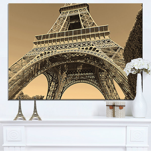 Designart Iconic Paris Paris Eiffel Towerview From Ground Canvas Art