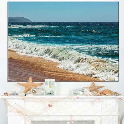 Designart Ideal Blue Atlantic Beach In Summertime Canvas Art