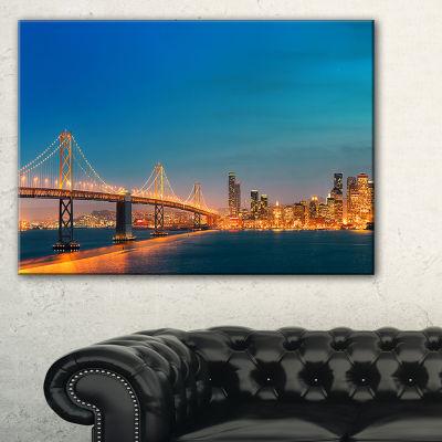 Designart Illuminated San Francisco Skyline Canvas Art