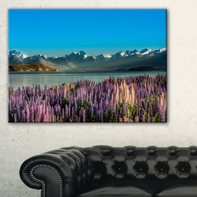 Designart Incredible Mountains Waters And Flowers Canvas Art
