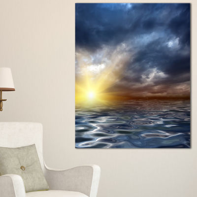 Designart Incredible View Of Typical Sunrise Canvas Art