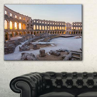 Designart Inside Ancient Roman Amphitheater Canvas Art