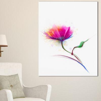 Designart Isolated Purple Poppy Flower Canvas Art