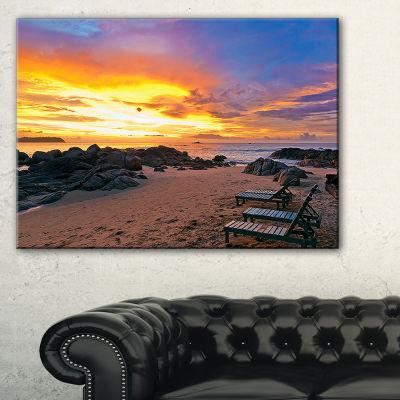 Designart Khao Lak Beach View At Sunset Canvas Art