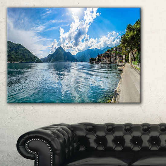 Designart Kotor Bay On Summer Day Panorama Canvas Art
